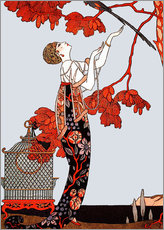 Gallery print  The flighty bird - Georges Barbier
