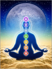 Gallery print  In Meditation With Chakras - Blue Moon Edition - Dirk Czarnota