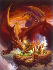 Naklejka na ścianę  Children of the Dragon - Jeff Easley