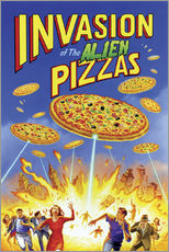 Naklejka na ścianę  Invasion of the alien pizzas - Gareth Williams