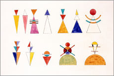 Gallery print  Pictures at an Exhibition, figures - Wassily Kandinsky