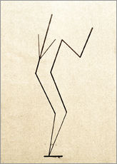 Gallery print  Analytical drawing after photos of dancing?.. - Wassily Kandinsky