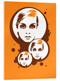 Obraz na szkle akrylowym  Twiggy Mathmos Orange - JASMIN!