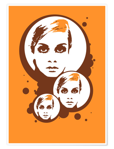 Plakat Twiggy Mathmos Orange
