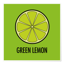 Plakat Green Lemon Juice