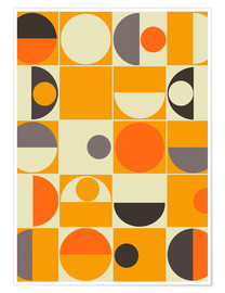Plakat  Panton orange - Mandy Reinmuth