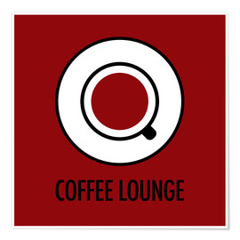 Plakat Coffee lounge, red