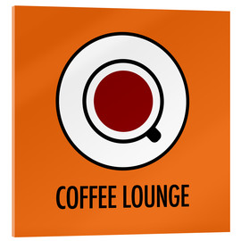 Obraz na szkle akrylowym  Coffee Lounge, orange - JASMIN!