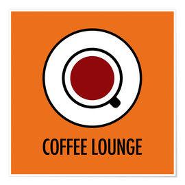 Plakat Coffee Lounge, orange