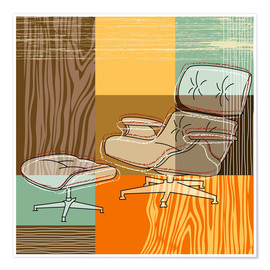 Plakat Lounge Chair V