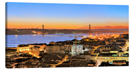 Obraz na płótnie  Panorama of Lisbon Portugal - FineArt Panorama