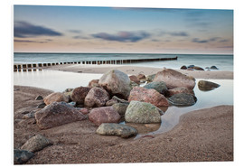 Obraz na PCV  Stones and groynes on shore of the Baltic Sea. - Rico Ködder