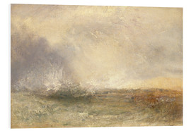 Obraz na PCV  Stormy sea breaking on a shore - Joseph Mallord William Turner