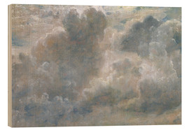 Obraz na drewnie  Study of cumulus clouds - John Constable