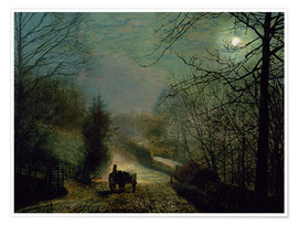 Plakat  Forge Valley - John Atkinson Grimshaw