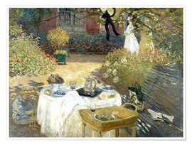 Plakat  The Luncheon: Monet's garden at Argenteuil - Claude Monet