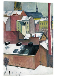 Obraz na szkle akrylowym  The Church of St Mary in Bonn in Snow - August Macke