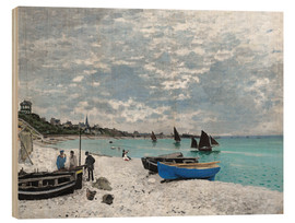 Obraz na drewnie  The Beach at Sainte-Adresse - Claude Monet