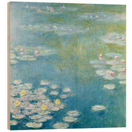 Obraz na drewnie  Nympheas at Giverny - Claude Monet