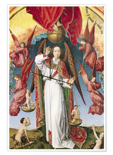 Plakat Last Judgment, St. Michael, Weighing Souls