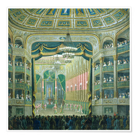 Plakat  View of the Parisian opera stage - French School