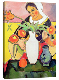 Obraz na płótnie  The Lute Player - August Macke
