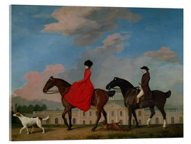 Obraz na szkle akrylowym  John and Sophia Musters riding at Colwick Hall - George Stubbs