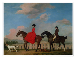 Plakat John and Sophia Musters riding at Colwick Hall