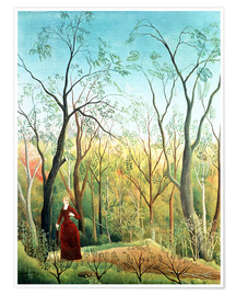 Plakat  The walk in the forest - Henri Rousseau