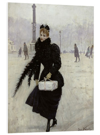 Obraz na PCV  Parisian woman in the Place de la Concorde - Jean Beraud