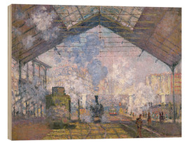 Obraz na drewnie  The Gare St. Lazare - Claude Monet