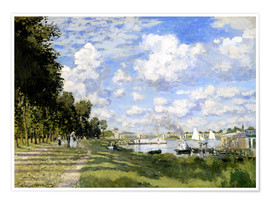 Plakat  The Marina at Argenteuil - Claude Monet