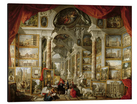 Obraz na aluminium  Gallery with pictures of Modern Rome - Giovanni Paolo Pannini