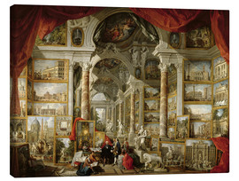 Obraz na płótnie  Gallery with pictures of Modern Rome - Giovanni Paolo Pannini