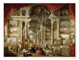 Plakat  Gallery with pictures of Modern Rome - Giovanni Paolo Pannini