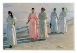 Plakat  Ladies on the beach - Michael Peter Ancher