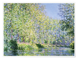 Plakat  Bend in the Epte River near Giverny - Claude Monet