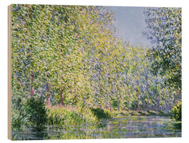 Obraz na drewnie  Bend in the Epte River near Giverny - Claude Monet
