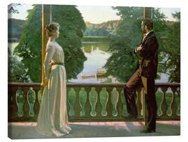Obraz na płótnie  Nordic Summer Evening - Sven Richard Bergh