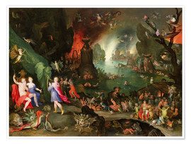Plakat Orpheus with a Harp Playing to Pluto and Persephone in the Underworld
