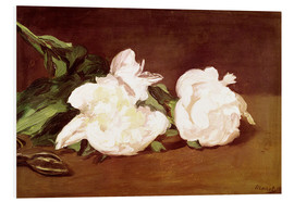 Obraz na PCV  Branch of White Peonies and Secateurs - Edouard Manet