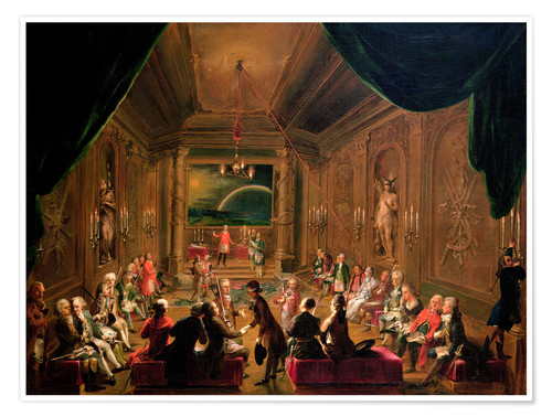 Plakat Initiation ceremony in a Viennese Masonic Lodge