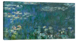 Obraz na płótnie  Waterlilies, Green Reflections - Claude Monet