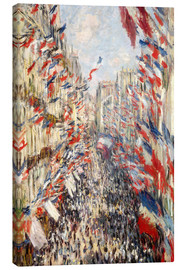 Obraz na płótnie  Rue Montorgueil, Celebrations June 30 - Claude Monet