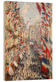 Obraz na drewnie  Rue Montorgueil, Celebrations June 30 - Claude Monet