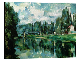 Obraz na aluminium  The Banks of the Marne at Creteil - Paul Cézanne