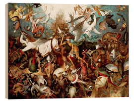 Obraz na drewnie  The fall of the rebel angels - Pieter Brueghel d.Ä.