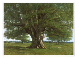Plakat  The Oak of Flagey - Gustave Courbet