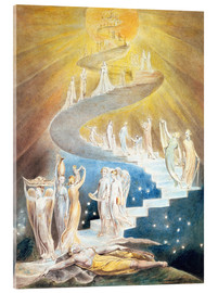 Obraz na szkle akrylowym  Jacob's ladder - William Blake