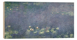 Obraz na drewnie  Waterlilies: Morning - Claude Monet